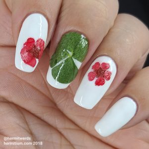 Dried Clover/Flowers - glossy - Hermit Werds - dried clover/flowers with glossy top coat