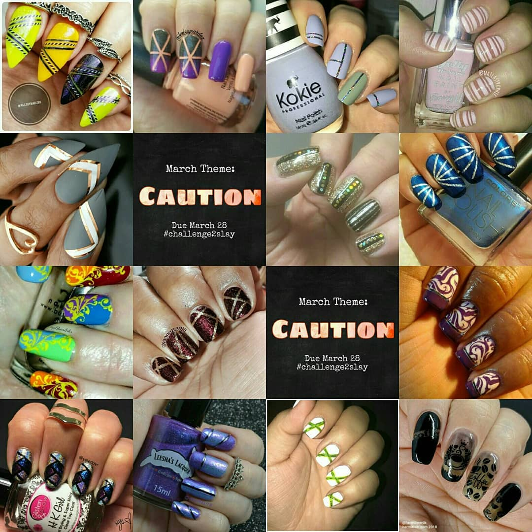 #Challenge2Slay - nail tape collage