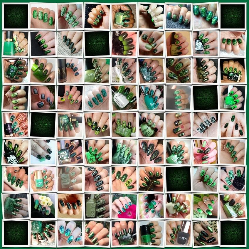 #WhenColoursCollide - Green/Black collage