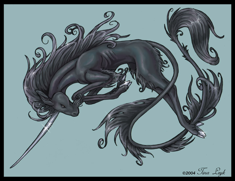 Black Unicorn by Tina Leyk