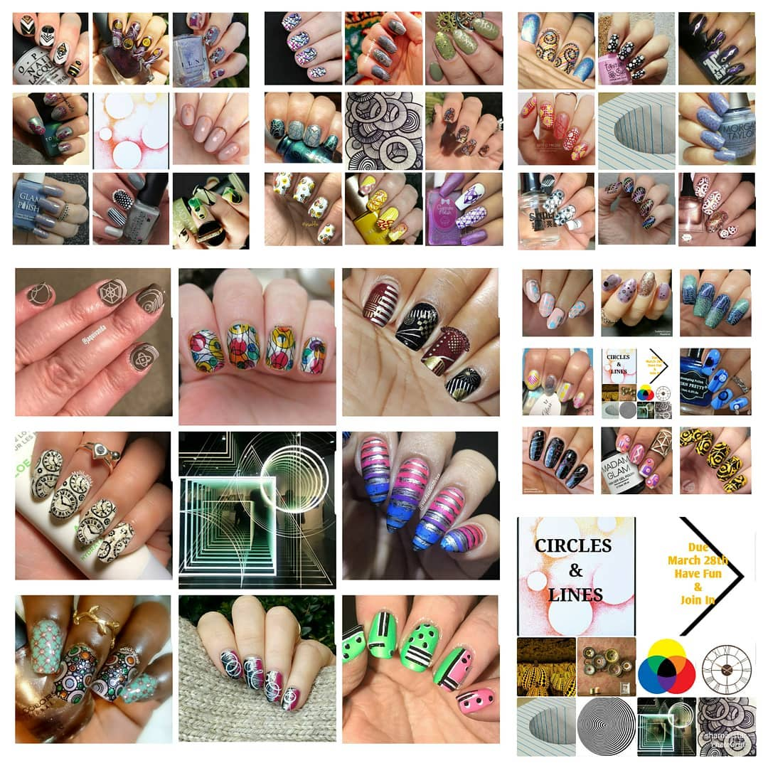 #NailsWithIgFriends - Circles and Lines collage