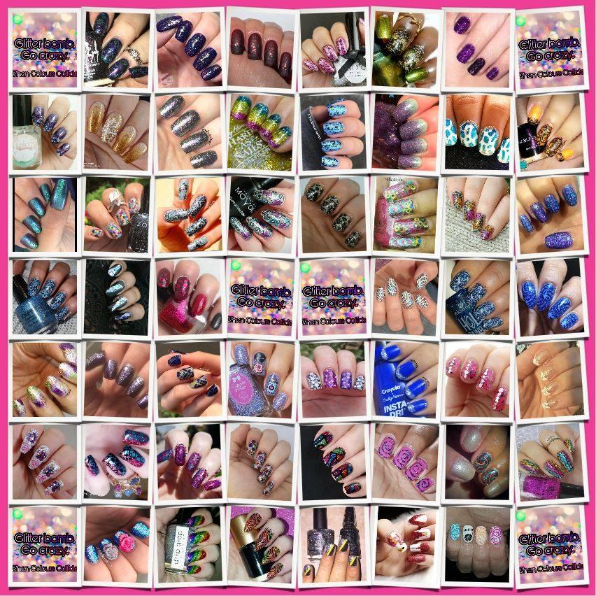 #WhenColoursCollide - Glitter Bomb collage
