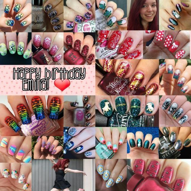 Emilia's @nailseeys birthday collage - 2018
