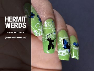 "Smile.DK's ""Butterfly"" - Hermit Werds - nail art inspired by Smile.DK's ""Butterfly"" made famous by DDR, complete with samurai"
