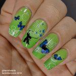 "Smile.DK's ""Butterfly"" - Hermit Werds - nail art inspired by Smile.DK's ""Butterfly"" made famous by DDR, complete with samurai"