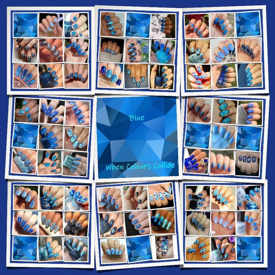 #WhenColoursCollide - blue collage