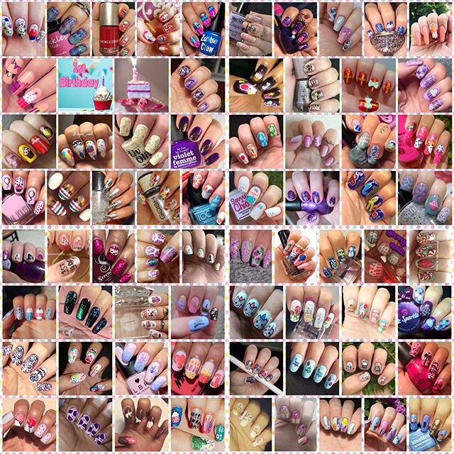 @nailaddictscollab - 1st birthday collage