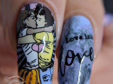 Love is Love - Hermit Werds - soft pastel LGBTQ positive graffiti nail art