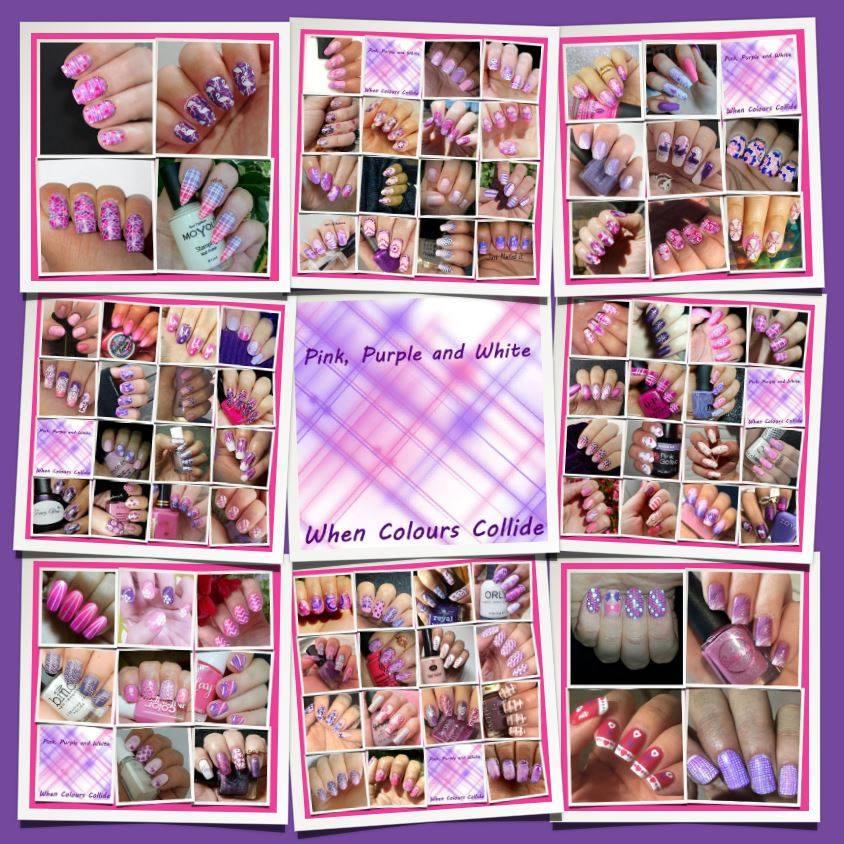 #WhenColoursCollide - purple/pink/white collage