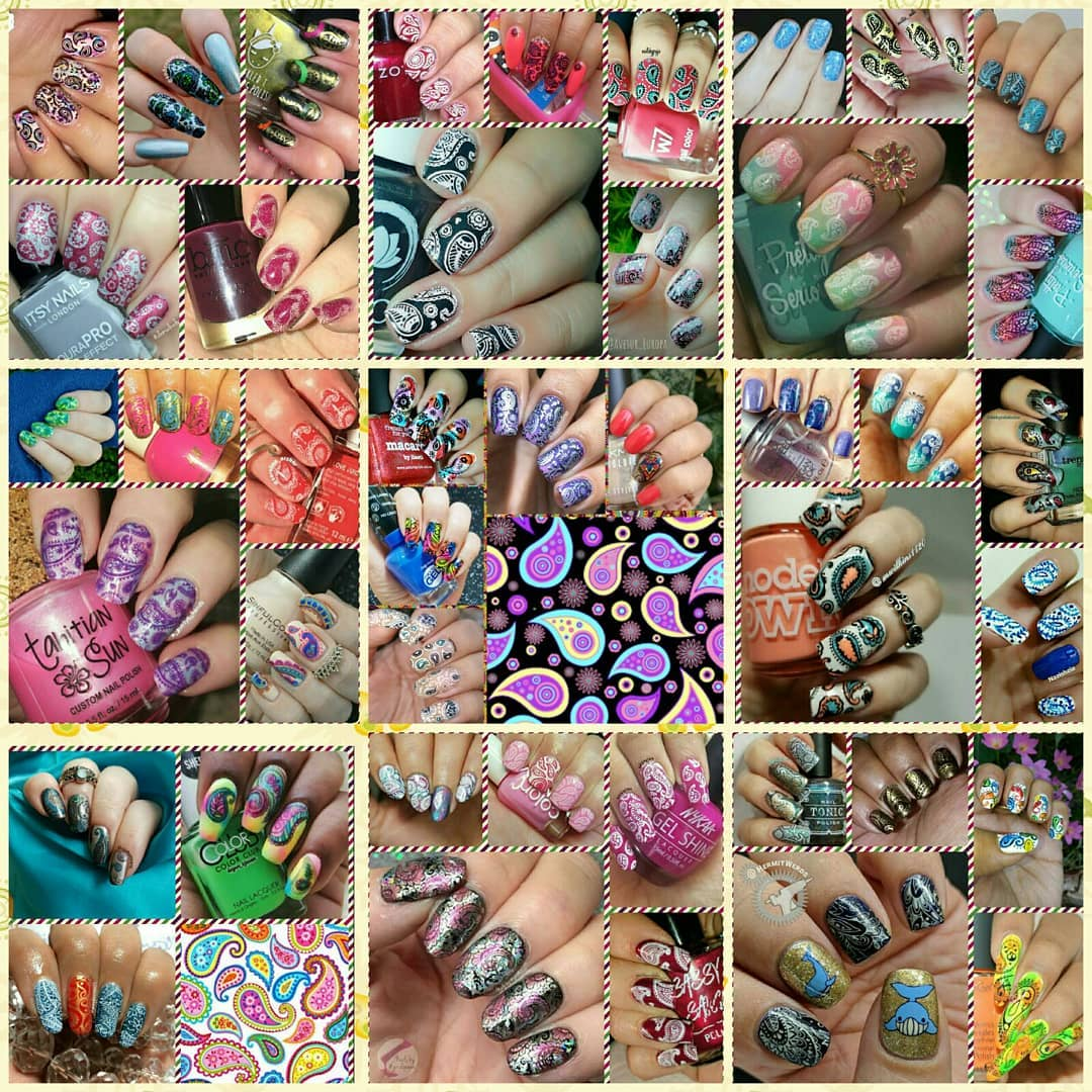 #NailsWithIgFriends - Paisley collage