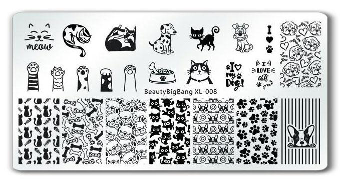 BeautyBigBang XL-008 stamping plate