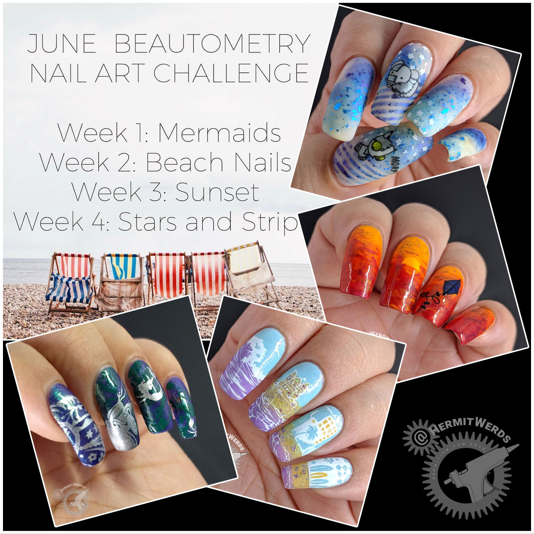 June's Beautometry manis - Hermit Werds