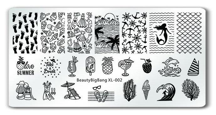 BeautyBigBang XL-002 stamping plate