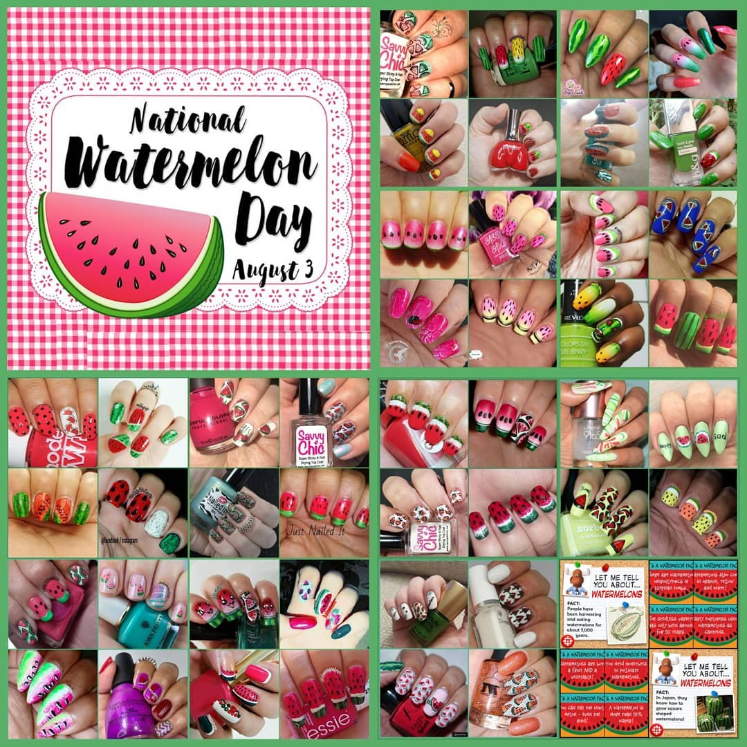 International Watermelon Day Collage