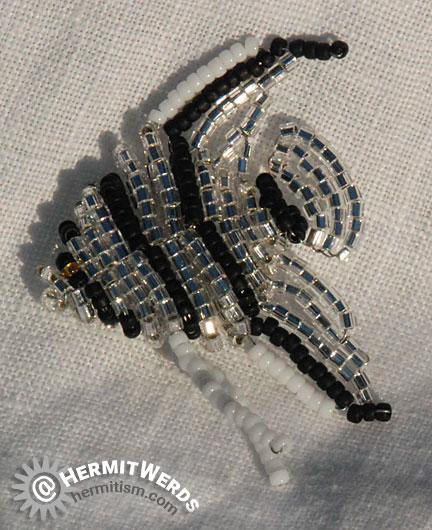 Anja Freese's Angelfish - Hermit Werds - angelfish beaded by Lisa @HermitWerds with hex beads