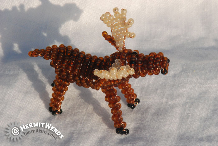Marilyne Kéréneur's Moose - Hermit Werds - moose beaded by Lisa @HermitWerds