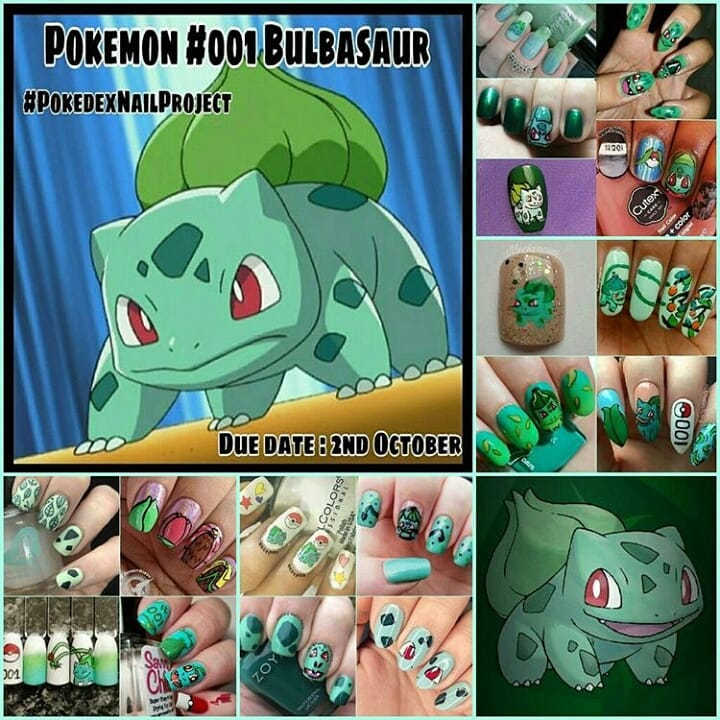 Pokedex Nail Project - 1. Bulbasaur - Hermit Werds