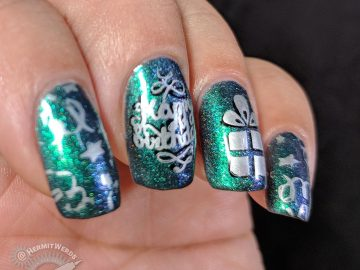 Happy Birthday, Neha! - Hermit Werds - multichrome birthday nails for Neha