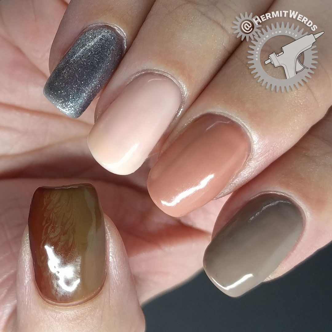 Laguna Moon - Classic - day one - Hermit Werds - start of neutral colored gel polish wear test