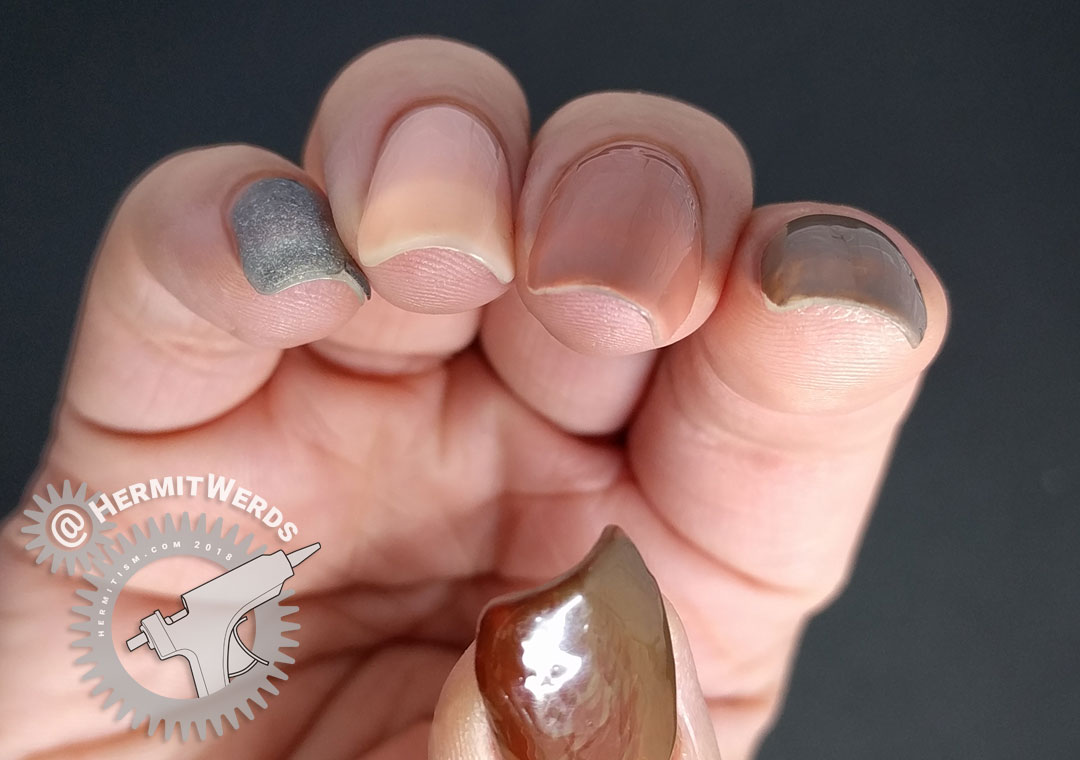 Laguna Moon - Classic - the tips at two weeks - Hermit Werds - end of wear test of neutral set of gel polishes