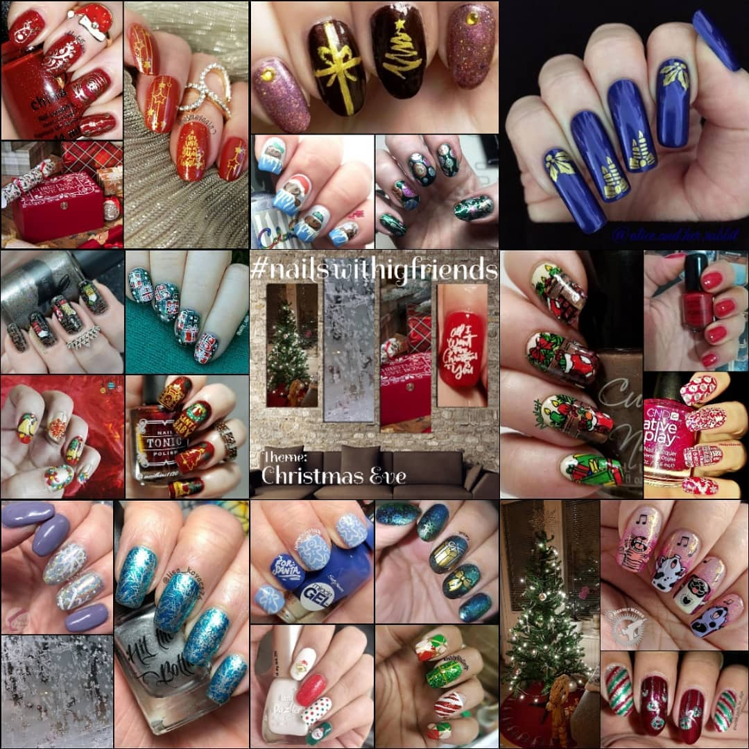 #NailsWithIgFriends - Christmas Eve collage