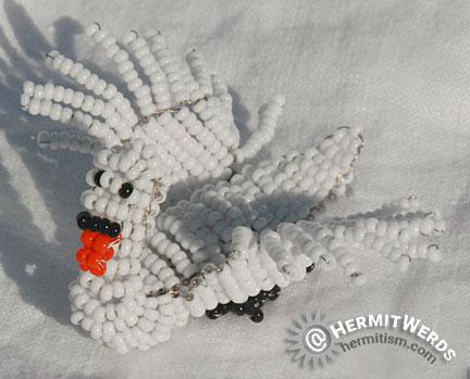 Anja Freese's Swan - Hermit Werds - Anja Freese's Swan beaded by Lisa @HermitWerds