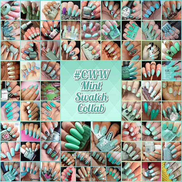 #ColoursWithinWomen - Mint collage