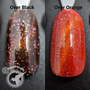 J6490TM-6A - test swatch over black and orange(s)
