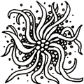 Squid - Hermit Werds - Zentangle pattern