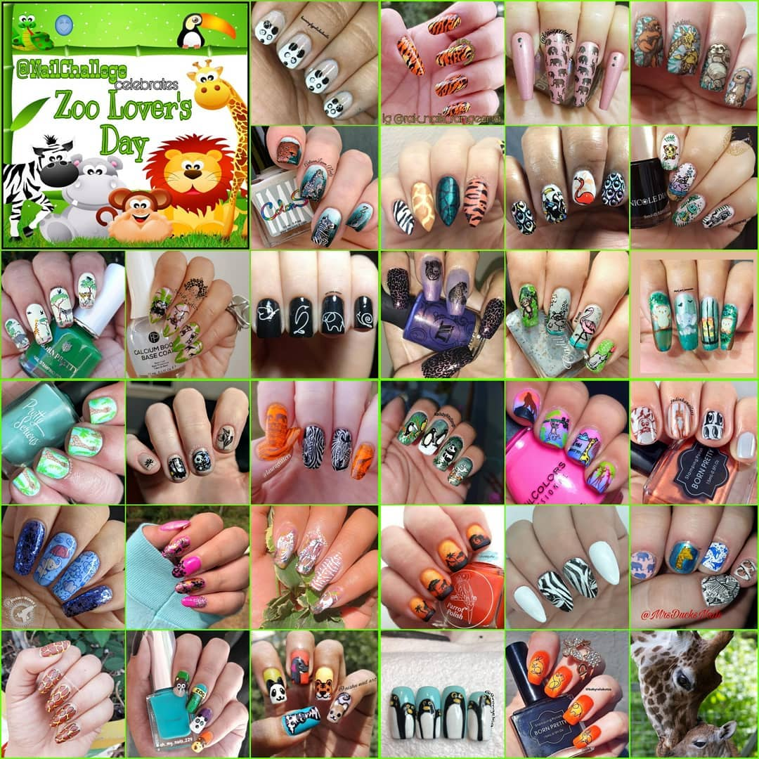 #NailChallenge - Zoo Lovers collage