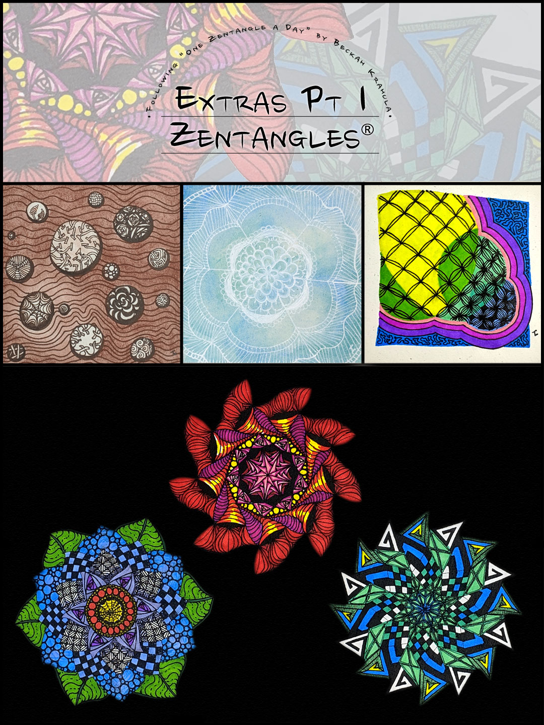 Week 7 Part 1 Zentangles by Hermit Werds for Pinterest