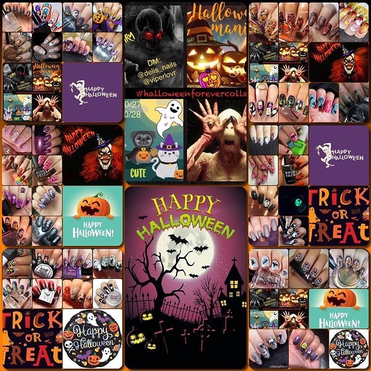 #HalloweenForeverCollab - October collage