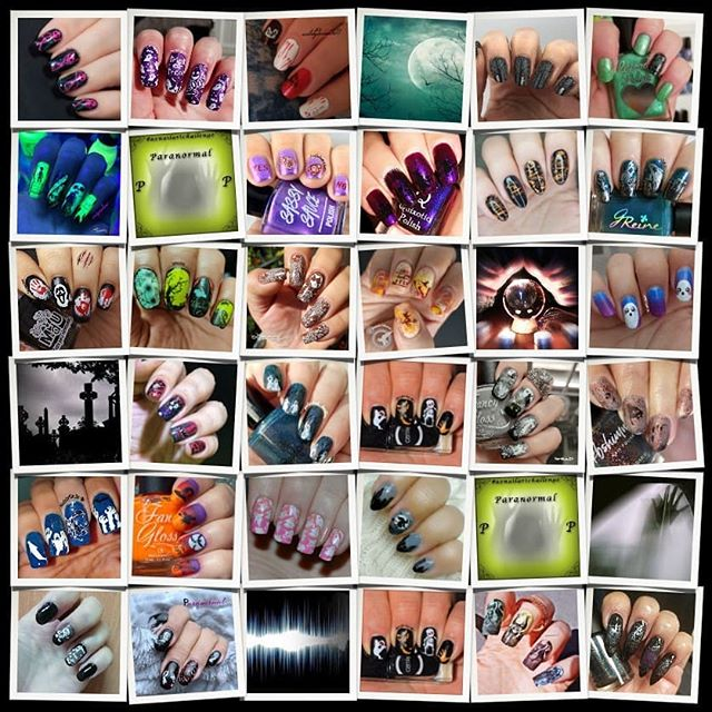 #AZNailArtChallenge - P is for Paranormal collage
