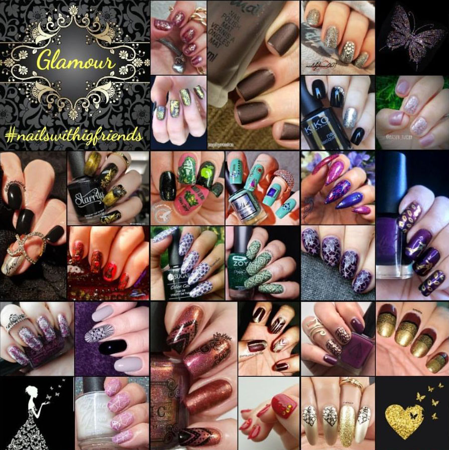 #NailsWithIgFriends - glamour collage