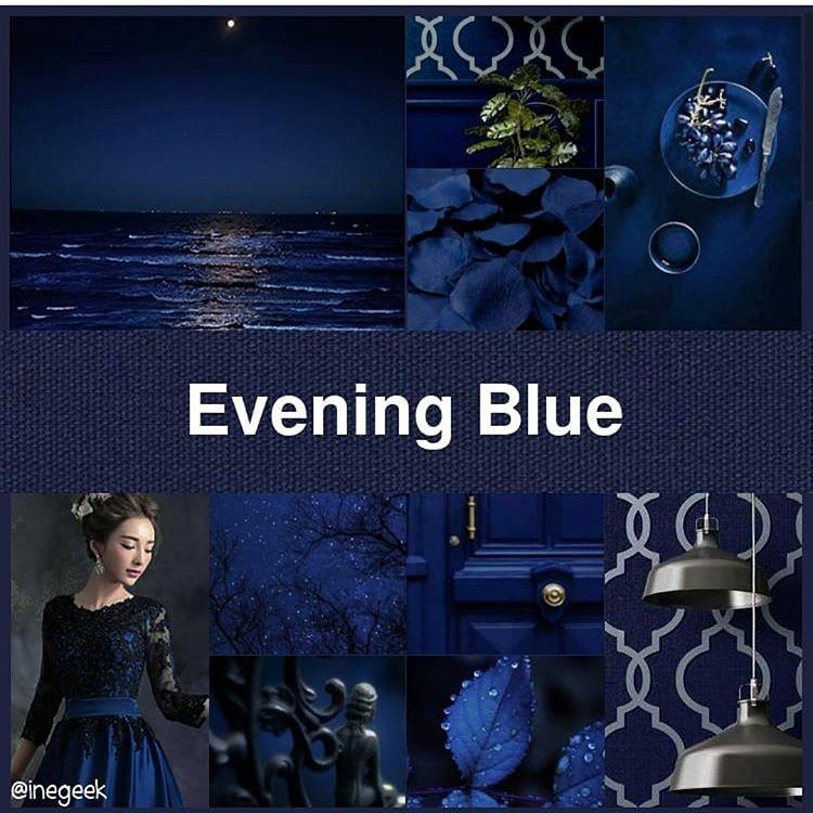 @inegeek's #pantone2019winterchallenge - Evening Blue