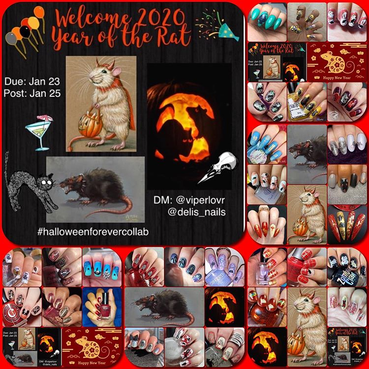 #HalloweenForeverCollab - Year of the Rat collage