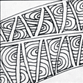 Banderole - Hermit Werds - Zentangle pattern