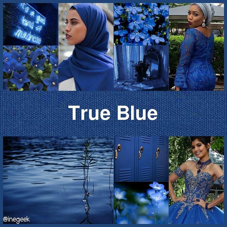 #pantone2020winterchallenge - True Blue