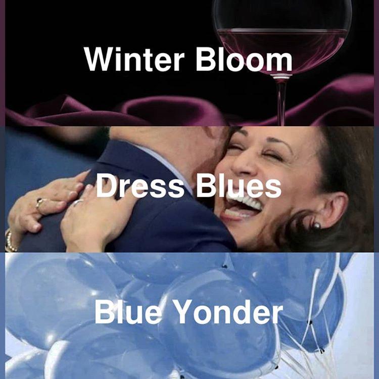 #pantone2020winterchallenge - Dress Blues, Winter Bloom, Blue Yonder