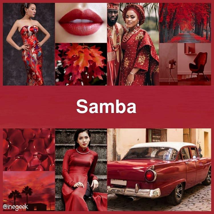 #pantone2020winterchallenge - Samba