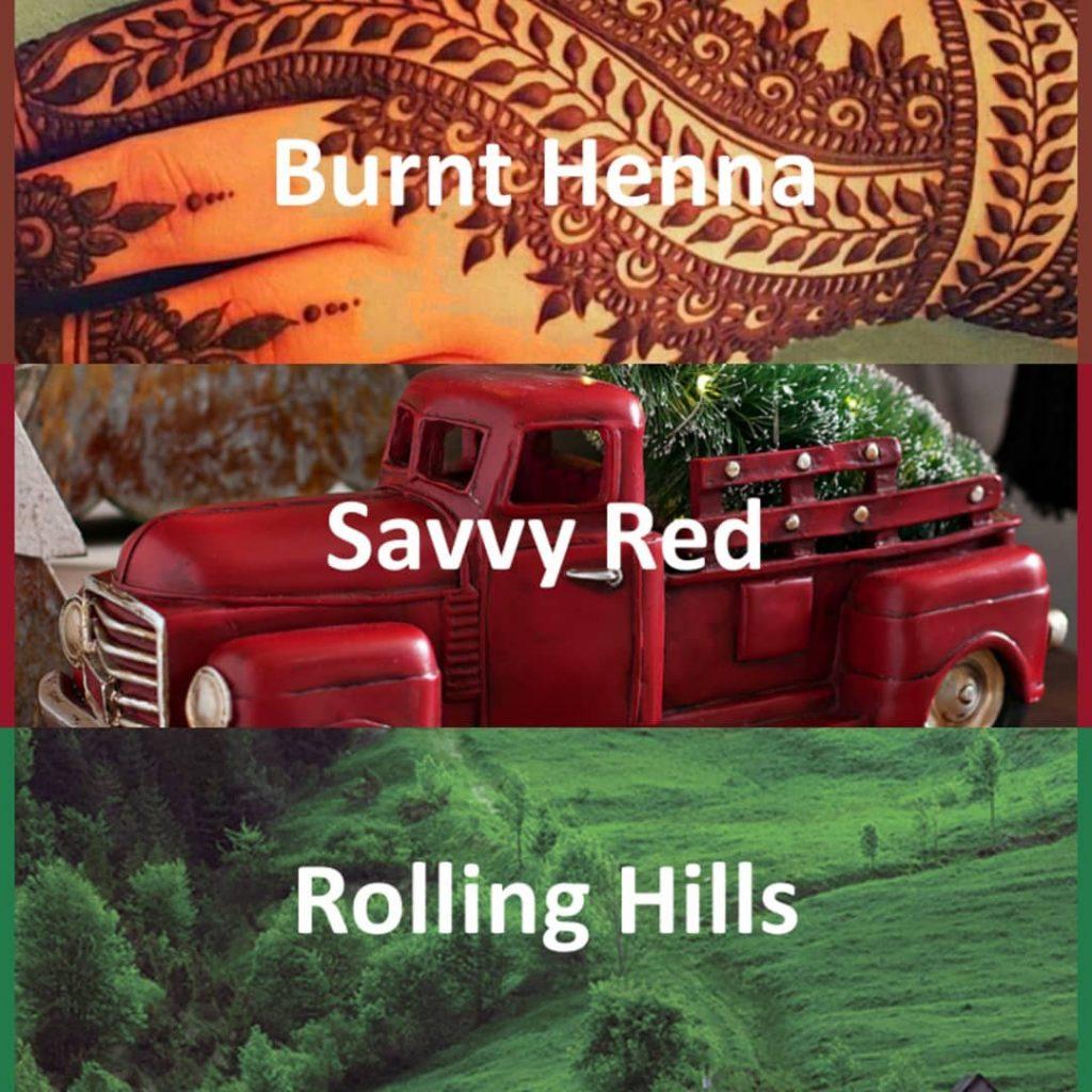 #pantone2020winterchallenge - Burnt Henna, Savvy Red, Rolling Hills