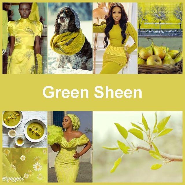 #pantone2020winterchallenge - Green Sheen