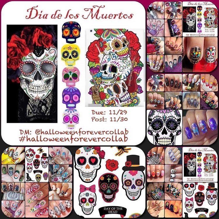 #halloweenforevercollab - sugar skull collage 2020
