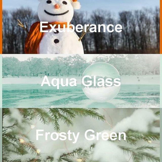 #pantone2020winterchallenge - Exuberance, Aqua Glass, Frosty Green