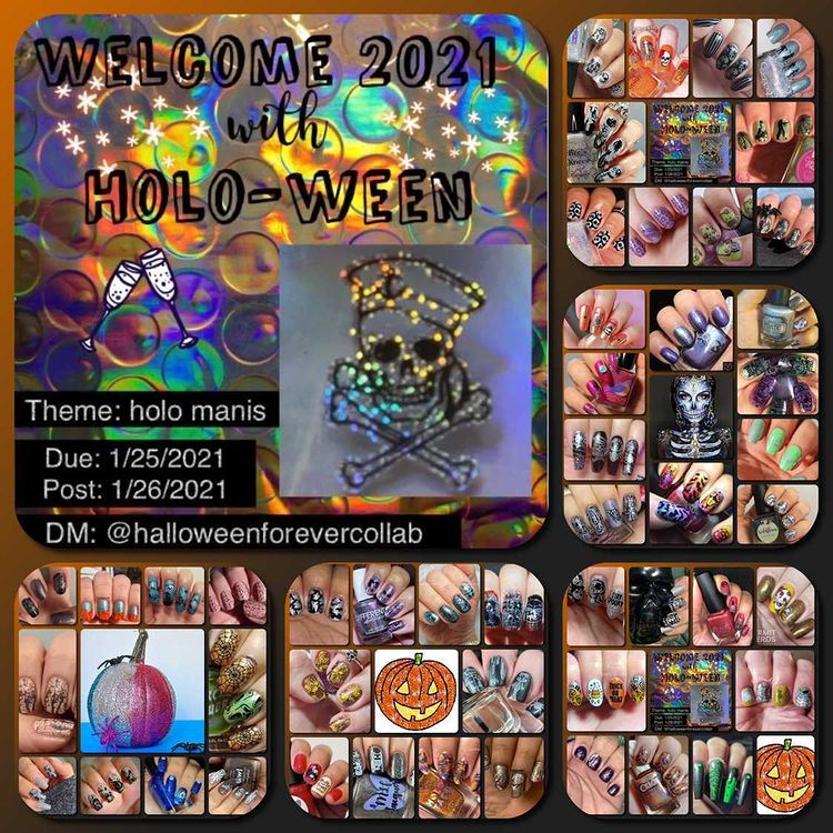 #HalloweenForeverCollab - Holo-ween collage - January 2021