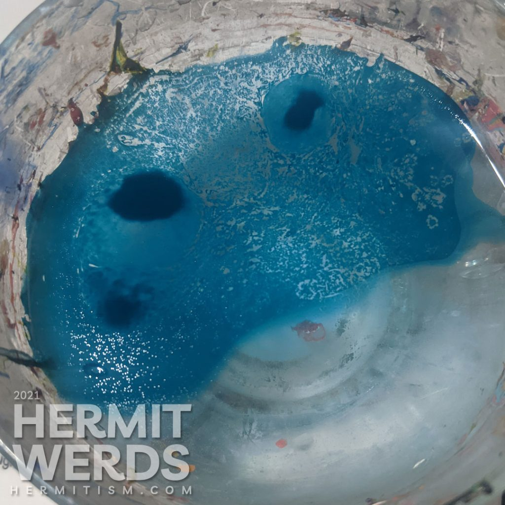 Water Spotted Pattern with Rubbing Alcohol