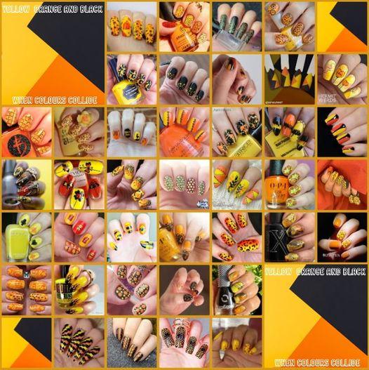 #whencolourscollide - Yellow, Orange, Black collage